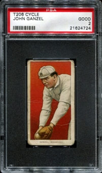 1909-11 T206 Cycle John Ganzel PSA 2 (GOOD) *4724