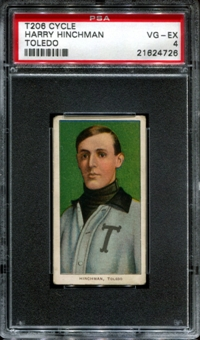 1909-11 T206 Cycle Harry Hinchman PSA 4 (VG-EX) *4726
