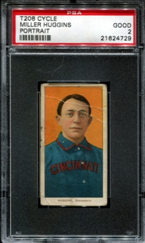 1909-11 T206 Cycle Miller Huggins (Portrait) PSA 2 (GOOD) *4729