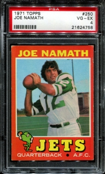1971 Topps Football #250 Joe Namath PSA 4 (VG-EX) *4758