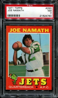 1971 Topps Football #250 Joe Namath PSA 7 (NM) *4760