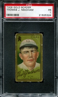 1911 T205 Gold Border Cycle Thomas Needham PSA 1 (PR) *5324