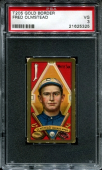 1911 T205 Gold Border Cycle Fred Olmstead PSA 3 (VG) *5325