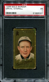 1911 T205 Gold Border Cycle Orval Overall PSA 1 (PR) *5327