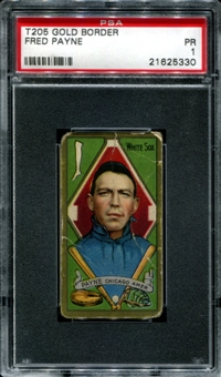 1911 T205 Gold Border Cycle Fred Payne PSA 1 (PR) *5330