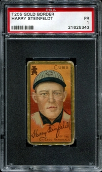 1911 T205 Gold Border Cycle Harry Steinfeldt PSA 1 (PR) *5343