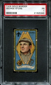 1911 T205 Gold Border Cycle George Stone PSA 1 (PR) *5345