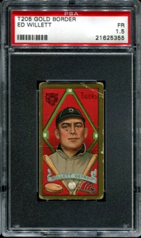 1911 T205 Gold Border Cycle Ed Willett PSA 1.5 (FR) *5355