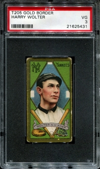 1911 T205 Gold Border Cycle Harry Wolter PSA 3 (VG) *5431