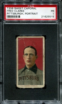 1909-11 T206 Sweet Caporal Fred Clarke (Pittsburgh - Portrait) PSA 1 (PR) *5515