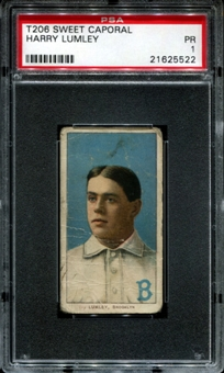 1909-11 T206 Sweet Caporal Harry Lumley PSA 1 (PR) *5522