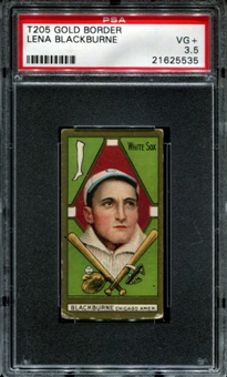 1911 T205 Gold Border Cycle Lena Blackburne PSA 3.5 (VG+) *5535