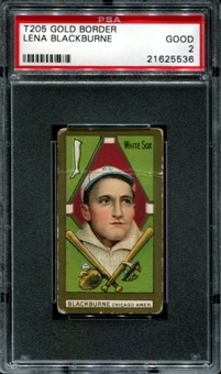 1911 T205 Gold Border Cycle Lena Blackburne PSA 2 (GOOD) *5536