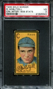 1911 T205 Gold Border Cycle Richard Hoblitzell (Cin. After 1908 Stats) PSA 3 (VG) *5543