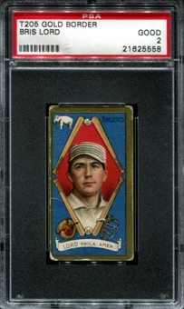 1911 T205 Gold Border Cycle Bris Lord PSA 2 (GOOD) *5558