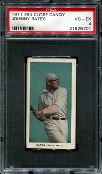 1911 E94 Close Candy Johnny Bates PSA 4 (VG-EX) *5701