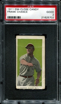 1911 E94 Close Candy Frank Chance PSA 2 (GOOD) *5702