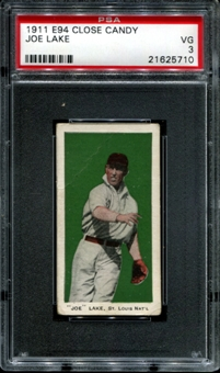 1911 E94 Close Candy Joe Lake PSA 3 (VG) *5710