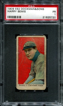 1909 E92 Dockman & Sons Harry Bemis PSA 1 (PR) *5720