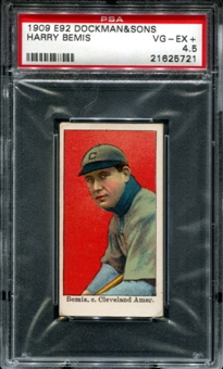 1909 E92 Dockman & Sons Harry Bemis PSA 4.5 (VG-EX+) *5721