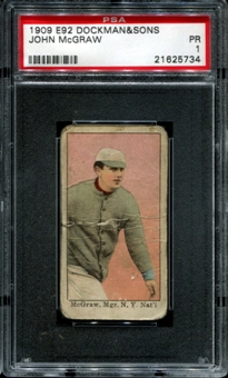 1909 E92 Dockman & Sons John McGraw PSA 1 (PR) *5734