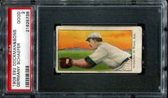 1909 E92 Dockman & Sons Germany Schaefer PSA 2 (GOOD) *5738