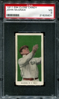 1911 E94 Close Candy John McGraw PSA 3 (VG) *5831
