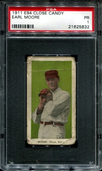 1911 E94 Close Candy Earl Moore PSA 1 (PR) *5832