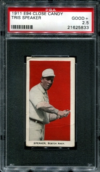 1911 E94 Close Candy Tris Speaker PSA 2.5 (GOOD+) *5833