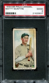1909 E95 Philadelphia Caramel Matty McIntyre PSA 2 (GOOD) *5837