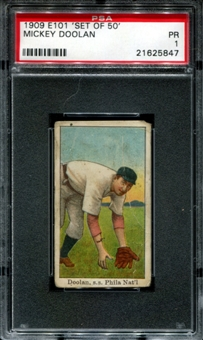 1909 E101 'Set Of 50' Mickey Doolan PSA 1 (PR) *5847