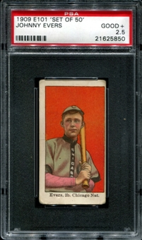 1909 E101 'Set Of 50' Johnny Evers PSA 2.5 (GOOD+) *5850