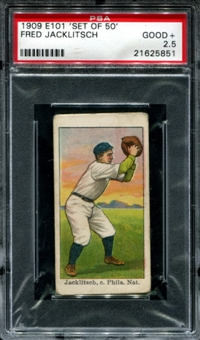 1909 E101 'Set Of 50' Fred Jacklitsch PSA 2.5 (GOOD+) *5851