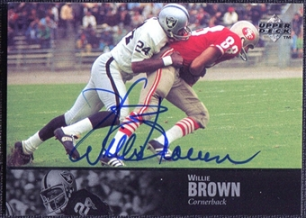 1997 Upper Deck Legends Autographs #AL26 Willie Brown
