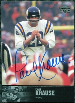 1997 Upper Deck Legends Autographs #AL128 Paul Krause