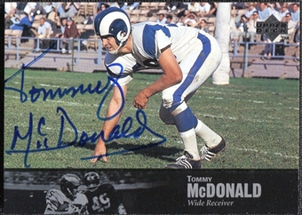 1997 Upper Deck Legends Autographs #AL136 Tommy McDonald