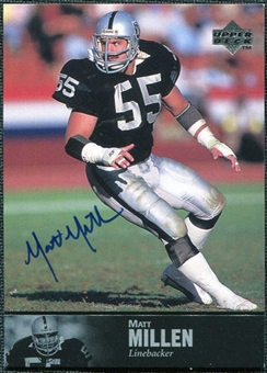 1997 Upper Deck Legends Autographs #AL142 Matt Millen SP