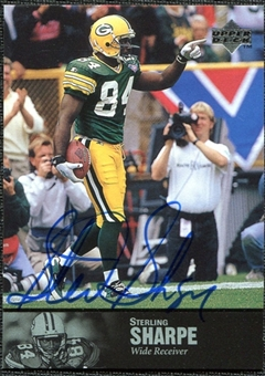 1997 Upper Deck Legends Autographs #AL160 Sterling Sharpe