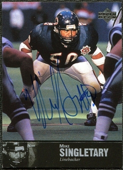 1997 Upper Deck Legends Autographs #AL163 Mike Singletary