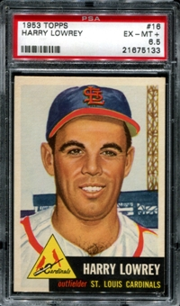 1953 Topps Baseball #16 Harry Lowery PSA 6.5 (EX-MT+) *5133