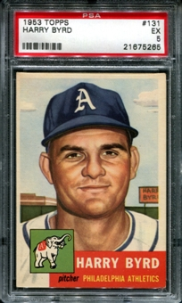 1953 Topps Baseball #131 Harry Byrd PSA 5 (EX) *5265