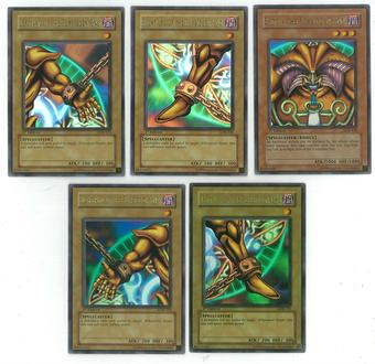 Yu-Gi-Oh Blue Eyes White Dragon 1st Edition Set - ALL 5 EXODIA PIECES - NEAR MINT / SLIGHT PLAY (NM/SP)