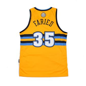 Denver Nuggets Kenneth Faried Adidas Yellow Swingman #35 Jersey (Adult M)
