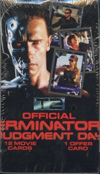 T2 Terminator 2 The Movie Wax Box (1991 Impel)