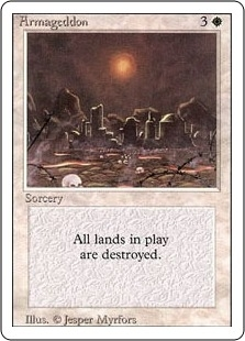 Magic the Gathering 3rd Ed (Revised) Single Armageddon - SLIGHT PLAY (SP)