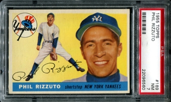 1955 Topps Baseball #189 Phil Rizzuto PSA 7 (NM) *6560