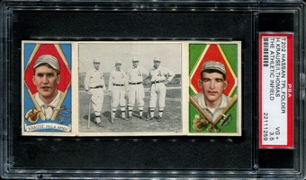 1912 T202 Hassan Triple Folder (The Athletic Infield)(Krause/Thomas) PSA 3.5 (VG+) *1259