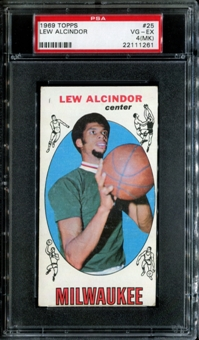1969/70 Topps Basketball #25 Lew Alcindor Rookie PSA 4 (VG-EX) (MK) *1261