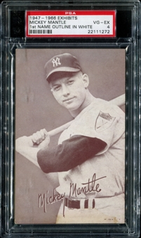 1947-1966 Exhibits Baseball Mickey Mantle (Outlined In White) PSA 4 (VG-EX) *1272