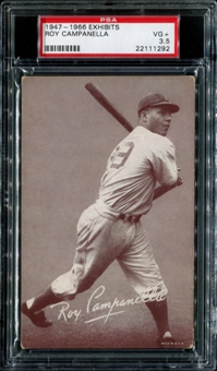 1947-1966 Exhibits Baseball Roy Campanella PSA 3.5 (VG+) *1292